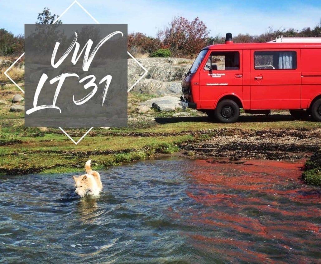 VW-LT-31-Feuerwehrauto-camper-van-motor-hund-wohnmobil-transporter