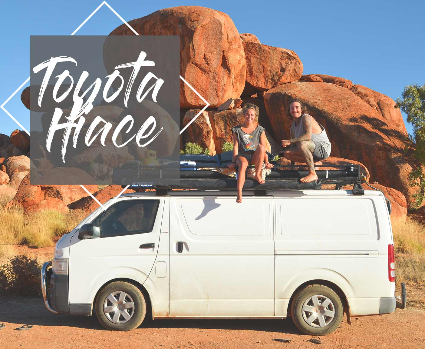 Toyota Hiace Van - a tiny rolling home is traveling Australia