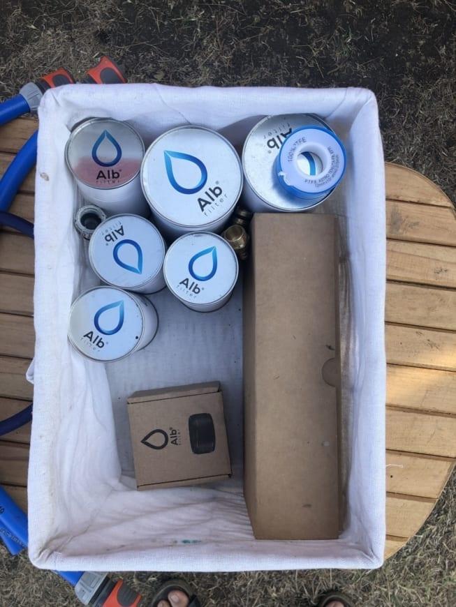Trinkwasserhygiene im Wohnmobil Alb Filter Original BIOLOGISCH abbaubare Wasserfilter + Duschfilter Trinkwasser-2